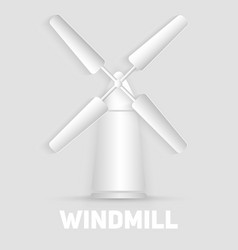Windmill symbol organic natural food sign paper vector