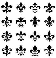 fleur de lis set vector image