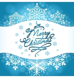 Christmas card design with white snowflakes vector