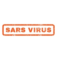 Sars virus rubber stamp vector