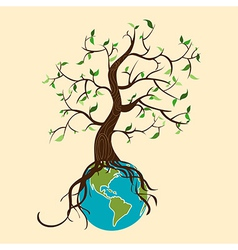 Go green tree world vector image