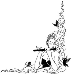 Tg00046 flute player vector