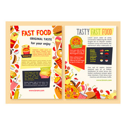 Fast food posters for restaurant vector