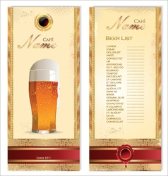 Beer card template vector image