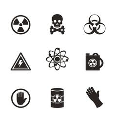 Danger an icon vector image