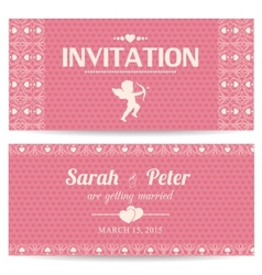 Valentine day romantic invitation card vector image