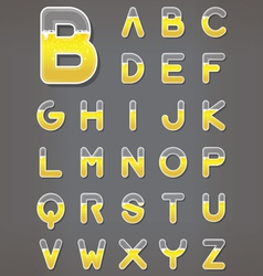 Beer letters set beverage alphabets vector