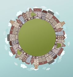 Round city landscape vector