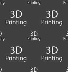 3d print sign icon 3d-printing symbol seamless vector