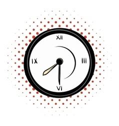 Clock comics icon vector image