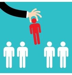 recruitment concept man choosing worker vector image