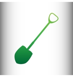 Shovel to work in the garden vector
