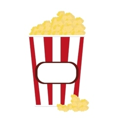 Popcorn striped container icon vector