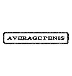 Average penis watermark stamp vector