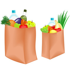 bag with food vector image vector image