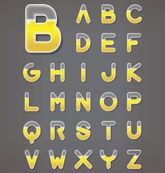 Beer letters set Beverage alphabets vector image