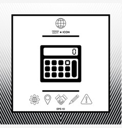 Calculator symbol icon vector