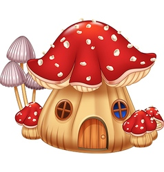 Cartoon Mushroom house vector image vector image