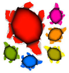 collection of holes in paper vector image vector image