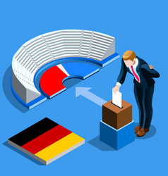 Germany election german people vote and isometric vector