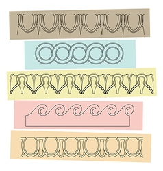 Greek motif ornaments vector