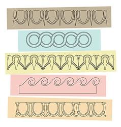 Greek motif ornaments vector image vector image