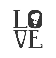 heart text love shape letter icon graphic vector image