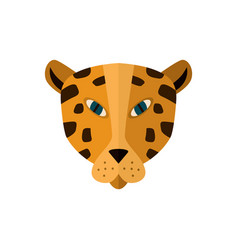 leopard head icon in flat design vector image vector image