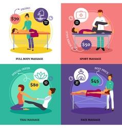 Massage concept icons set vector