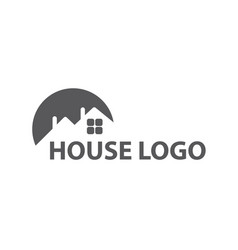 Monochrome house logo vector