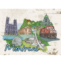 montreal doodles vector image vector image