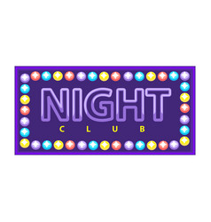 Night club emblem vector