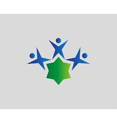 People group edu icon vector