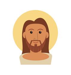 portrait jesus christ catholicism image vector image
