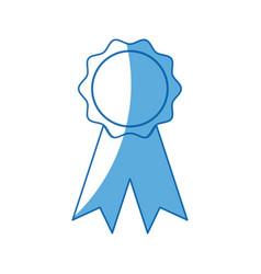 Rosette winner school ribbon award vector