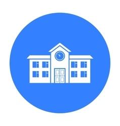 School icon black single building icon from the vector