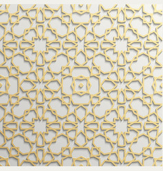 Seamless islamic pattern 3d Traditional Arabic vector image