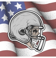 Skull in a helmet to play football vector