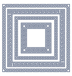 square frame with greek ornament meander style pa vector image vector image