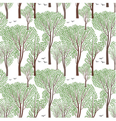 summer nature seamless pattern summer tree forest vector image vector image