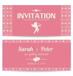 Valentine day romantic invitation card vector