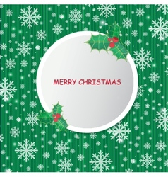 Vintage christmas card with grey ball and holly vector
