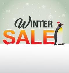 winter Sale background vector image vector image