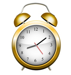 Yellow alarm clock vector image