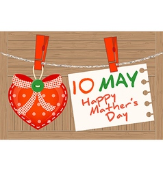 10 May Happy Mather Day vector image