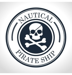 Skull and bones symbol pirate vector