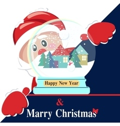 Happy new year background with santa claus vector