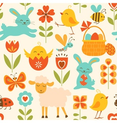 Cute Easter pattern vector image