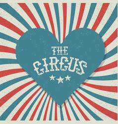 vintage circus festival background red and blue vector image