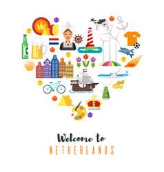 netherlands national cultural symbols vector image